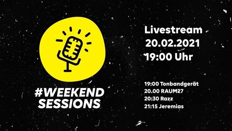 #WeekendSessions – Livestream-Festival mit Tonbandgerät und anderen Bands