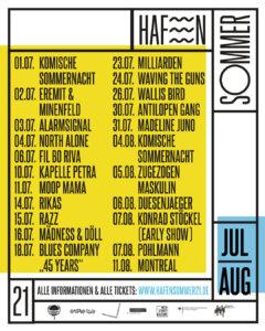 HafenSommer21 - Programm Juli bis August (Credits: www.hafensommer21.de)