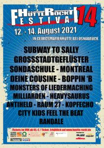 """""""Hütte Rockt Festival 14"""" (Plakat – Credits: https://www.huette-rockt.de/)"""